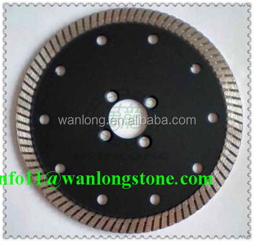 Hot products of Wanlong High performance Cold pressing technology turbo type cutter blade 200 mm for stone cutting