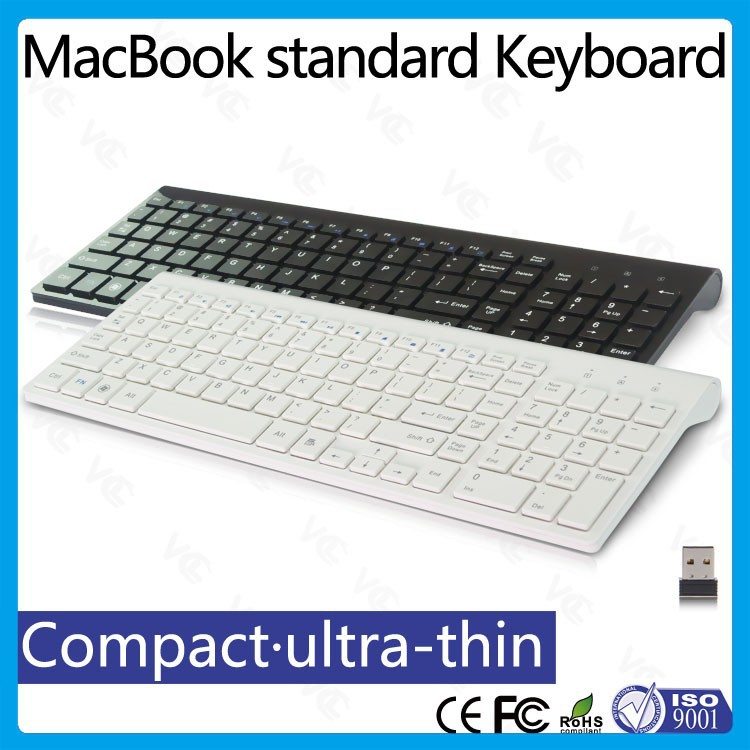 Trade Assurance Supplier Chocolate Design Ultra-thin 2.4Ghz Silent Multimedia Wireless Keyboard