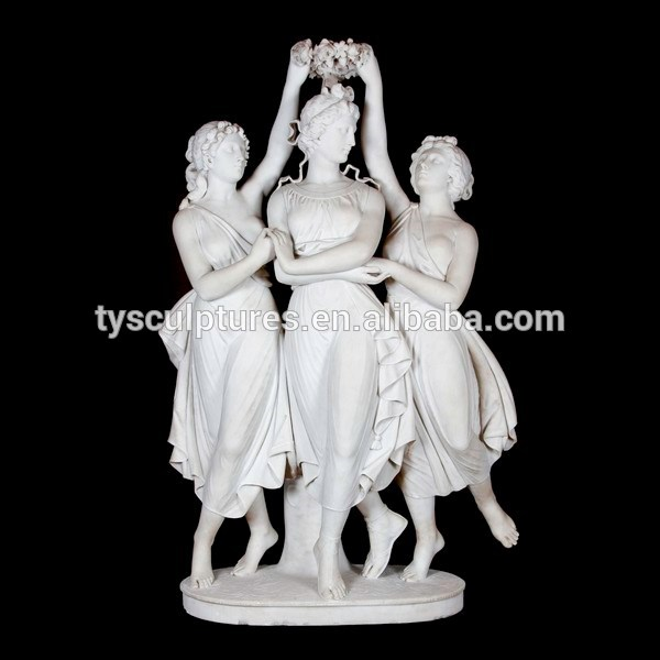 Famous people statue the three graces marble statue for sale