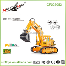 Truck model excavator 1:45 Seven channel remote control Hydraulic crawler types of excavating equipment trucks for sale