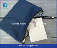 small zipper canvas pouch with custom printing logo envelope bag