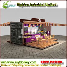 Shipping container customized prefabricated coffee shop designs for sale