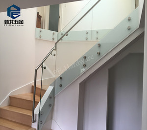 China Stainless Steel Stair Glass Railing China Stainless Steel