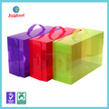 wholesale rectangular pvc clear hard plastic shoe box