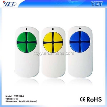 Shenzhen Yaoertai factory duplicate remote control, garage door remote control,copy remote control for automatic door