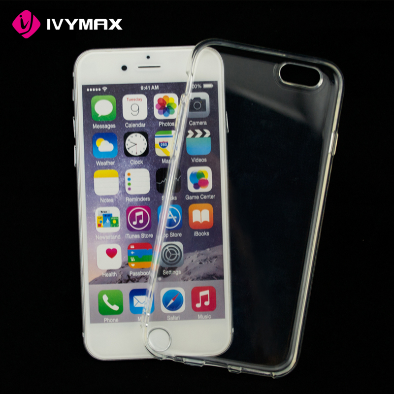 Soft TPU cover crystal transparent anti slip back phone case for iphone 6/ 6s