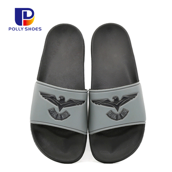 Classical Custom Logo Beach Summer PU Sole Men Footwear Slipper