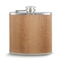 Wholesale custom design stainless steel hip flask with real wooden wrap