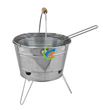 Food safe stainless steel portable bbq bucket