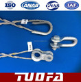 stay wire for 7/4.00 guy grips dead end clamp ADSS cable accessories Preformed tension clamp