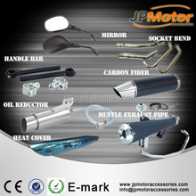 motorcycle parts handle bar CNC for street road motorcycle and motorbike , exhaust pie motorcycle reaview mirror