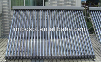 Imposol Heat Pipe solar collector heating water in projects 500L