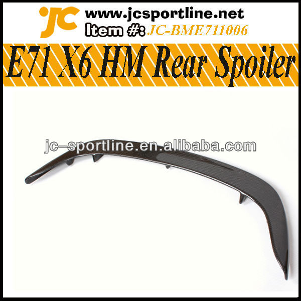 HM Style E71 X6 Rear Car Trunk Carbon Wing Spoiler for BMW M6 as well