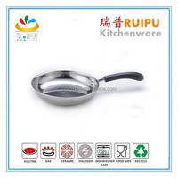 China style supplier 18/ 10 stainless steel 24cm cooking frypan for Italy pizza pans