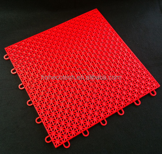Factory price of PP interlocking tiles basketball floor sports flooring