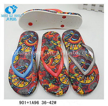 2017 new fashion luxury wholesale simple flat Slippers flip flops