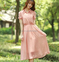 small polka dot women dress