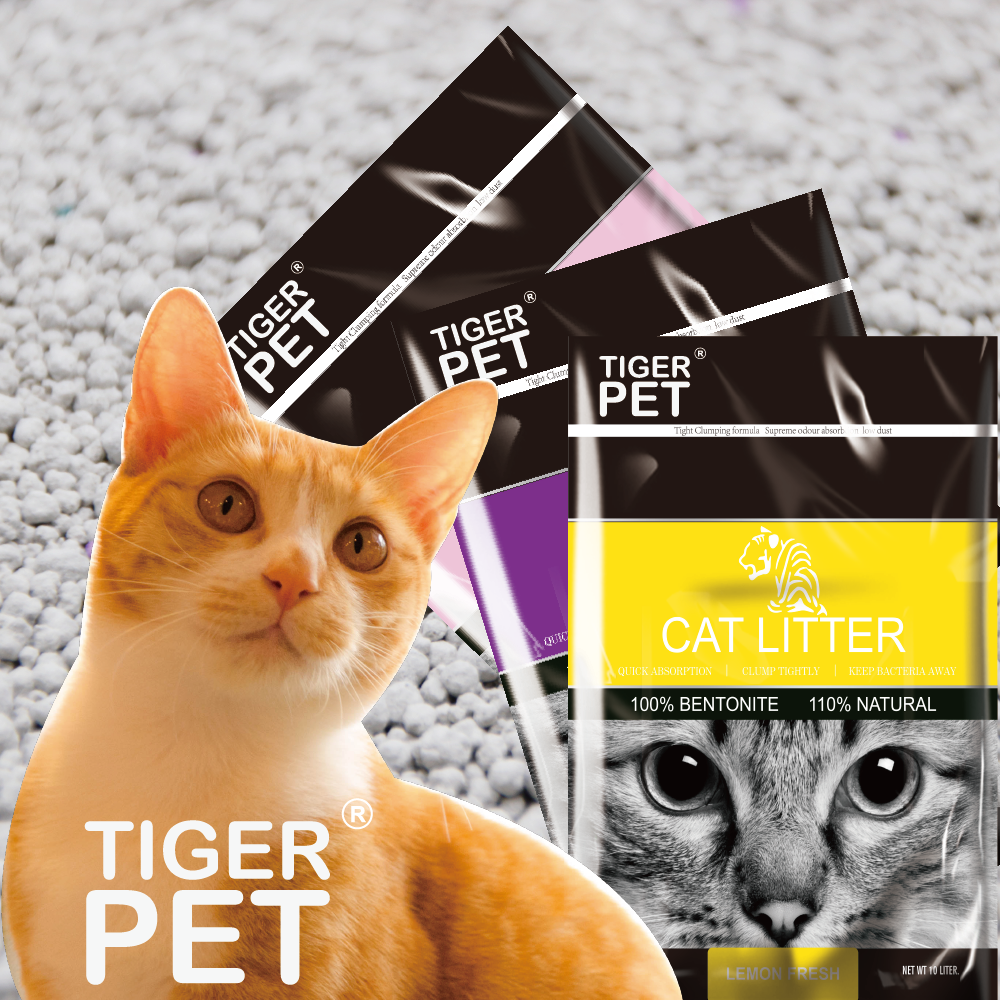 Tiger <strong>pet</strong> 100% natural high quality Premium Clumping Cat Litter