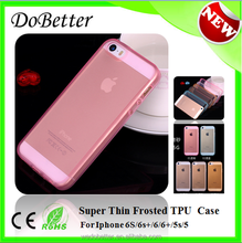 New Arrival Factory Supply Premium Mobile Phone Frosted TPU Case For Iphone 6S Phones Case