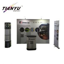 Wholesale aluminum polyester fabric trade show free standing fashion display cases pop up trade show displays