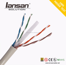 factory price good quality utp cat6 passing fluke testing network cable LAN cable