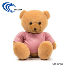 Pink Color T shirt stuffed plush teddy bear toys