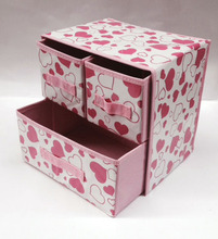Foldable cardboard storage drawer drawer storage cabinet