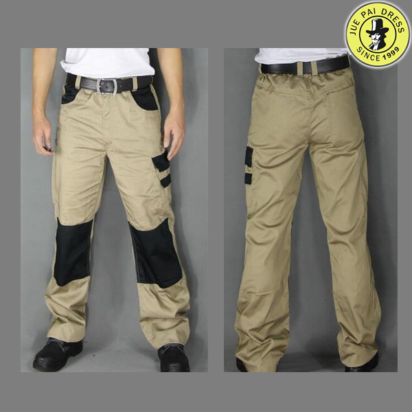 Custom work leisure trousers pure cotton wear more pockets work pants