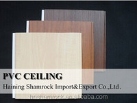 Flat PVC ceiling panel board for decoration