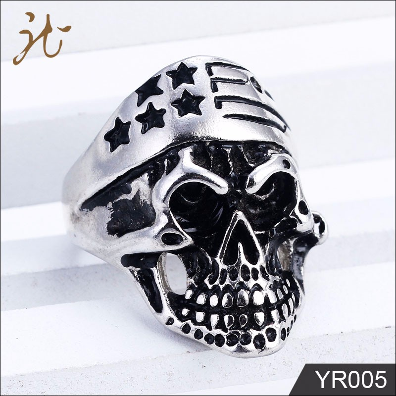 Wholesale Young Boy Class Replica Stainless Steel Skull Ring
