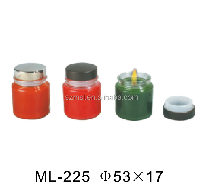 Candle gift tin box with rubber ring on lib
