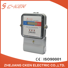 Cken EU Standards 240V 50Hz LCD Display Single Phase Energy Meter Electronic Digital Type Kilowatt Hour Meter