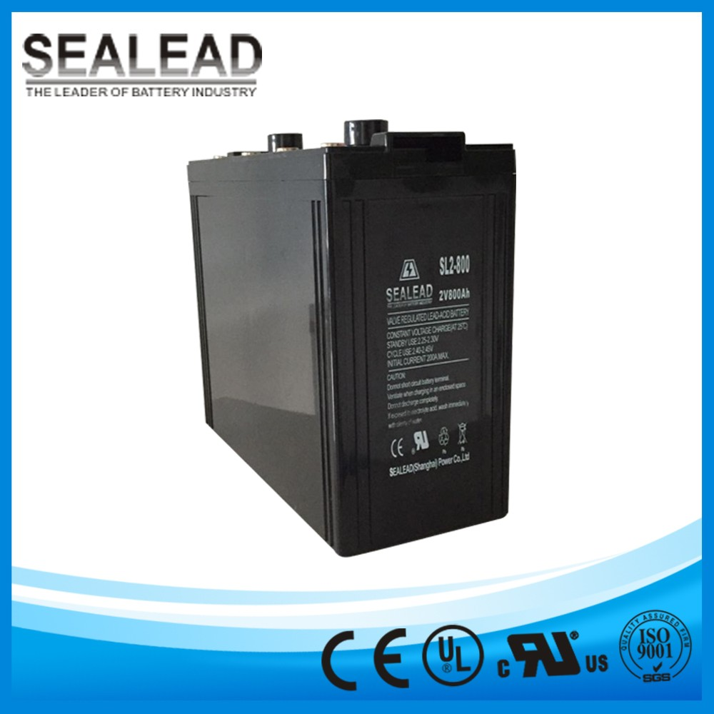 grid and off grid system storage battery 2v 800ah lead acid AGM and free maintenance batteries for solar home