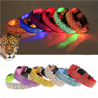 High Quality Sexy Leopard Collar Remote Control Flashing LED Dog Collar
