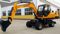 7 ton compact wheel excavator for sale/ cheap wheel excavator for sale