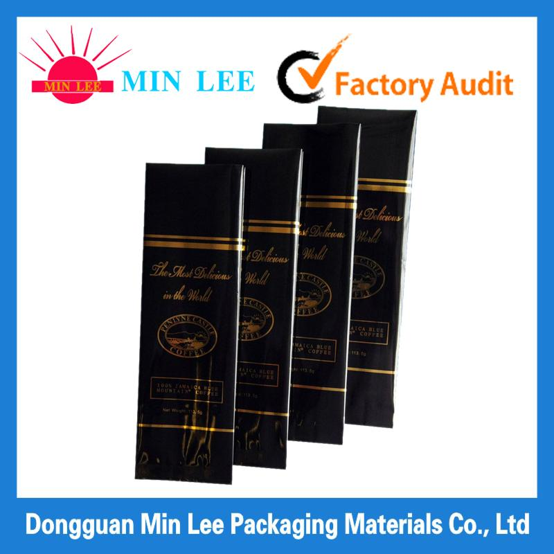 filter coffee bag with flat bottom aluminum foil coffee beans packaging bag