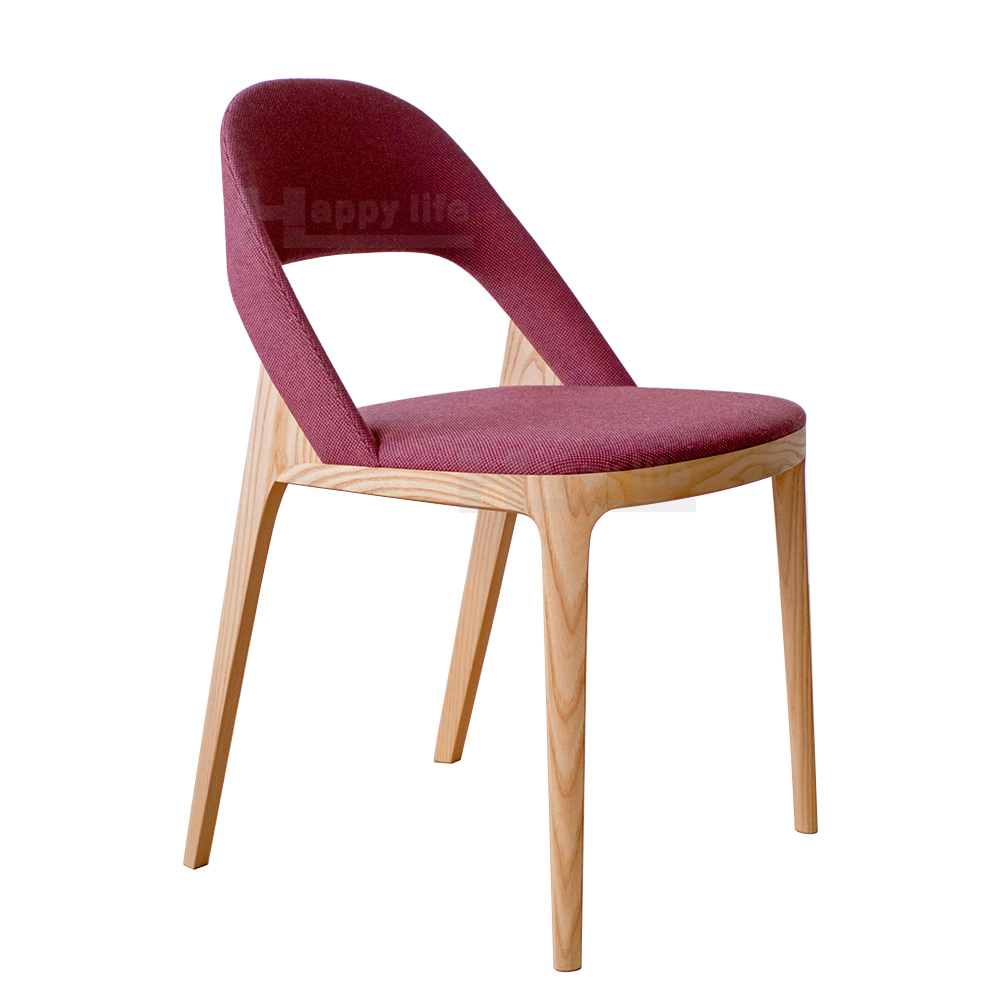 New danish design restaurant fabric dining chair wood for Chair new design
