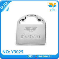 Professional manufacture metal bag accessory company logo metal logo design