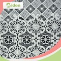 Latest design spider web pattern100% milky polyester chemical lace fabric