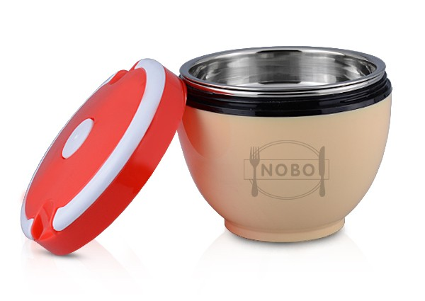 Economic plastic surface lunch box stainless steel thermos for Surface container