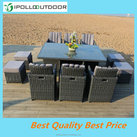 New design 10 seater dining set outdoor furniture webbing