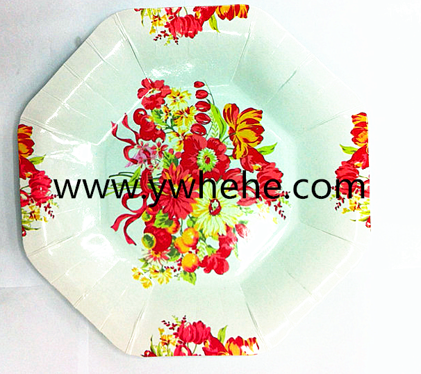 China Manufacture Top Quality Colorful Christmas Party Plates