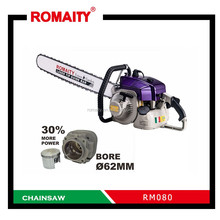 useful big power ROMAITY RM080 gasoline chainsaw for sale
