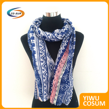 print scarf with embroidered scarf women hijab muslim
