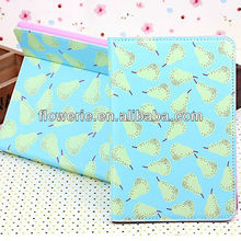 FL3270 2013 Guangzhou new product lovely stand fruit flip leather cover cases for ipad mini
