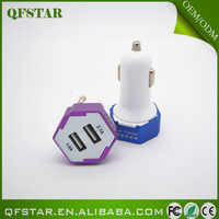Best quality China supplier mini bullet dual usb 2-port car charger adaptor