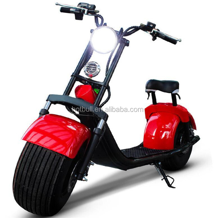 2017 fat tyre 1000W citycoco harley electric scooter for adults