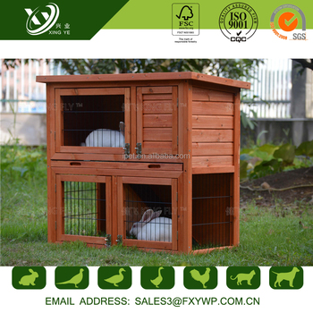 2016 fashion beautiful carefully polished wood make a rabbit cage
