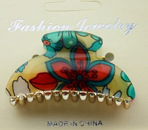 Wholesale China plastic butterfly hair claw clip