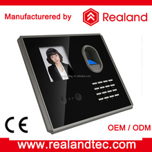TCP/IP Biometric time attendance two infrared camera Card reader facial recognition device with wifi Realand F381